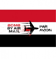 Yemen flag and explosives vector