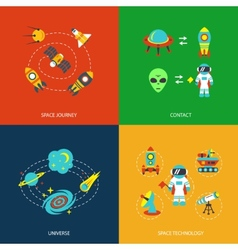 Space icons infographics vector