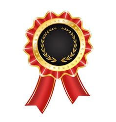 Award label with ribbon vector
