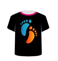 T shirt template- baby foot vector
