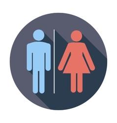 Wc single icon vector
