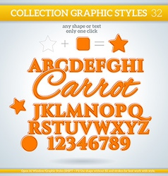 Carrot graphic styles for design use for decor vector