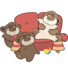 Family of bears vector