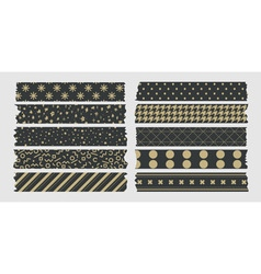 Masking tape gold vector