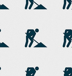 Repair of road construction work icon sign vector