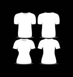 T shirt white template vector
