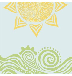 Sun nature pattern background vector