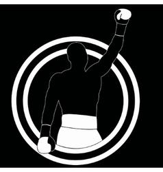 Boxer winner - simple vector
