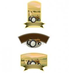 Tractor labels vector