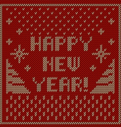 Happy new year knitting background vector