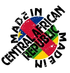 Made in central african republic vector