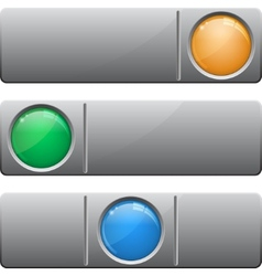 Banners with glass button vector