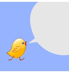 Little chicken goes and talks design vector