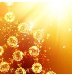 Atom particles vector