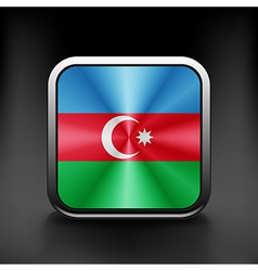 Square icon with flag of azerbaijan with vector
