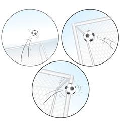 Scoring a goal football images vector