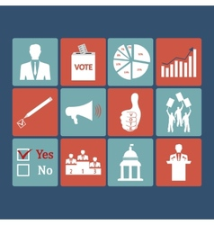 Politics voting and elections icons - icon vector