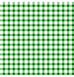 Seamless retro white-green square tablecloth vector