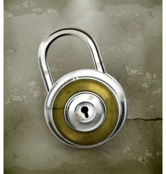 Padlock old-style vector