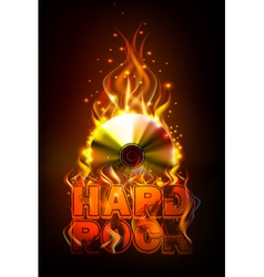 Disco fire background disck or record vector