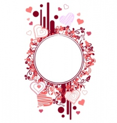 Blank frame with small hearts vector