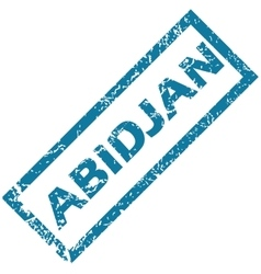 Abidjan rubber stamp vector