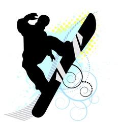 Snowboard skiers vector