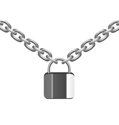 Metal chain and lock vector