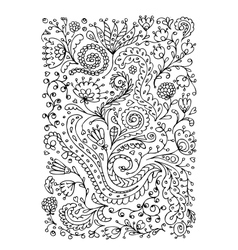 Floral ornament hand drawn sketch for your design vector