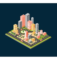 City style flat vector