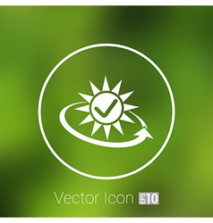 Open icon clock time delivery timetable day arrow vector