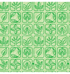 Seamless pattern with ecology signs vector