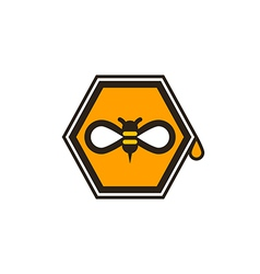 Honeybee icon vector