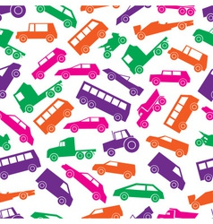 Simple cars color icons seamless pattern eps10 vector