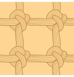 Rope and knots seamless pattern vector