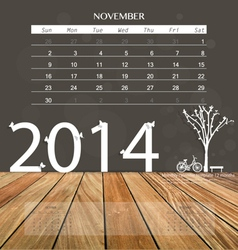 2014 calendar monthly calendar template for vector