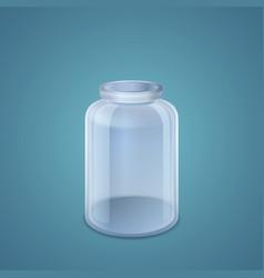 Empty jar vector