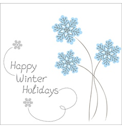 Winter flowers vector