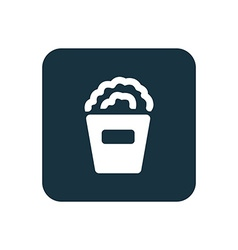 Popcorn icon rounded squares button vector