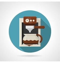 Flat color icon for coffee machine vector