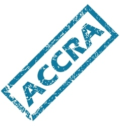 Accra rubber stamp vector