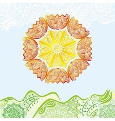 Nature pattern background beautiful sun vector