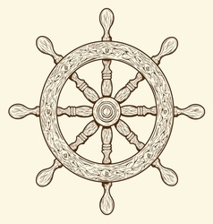 Detailed grey outlines nautical rudder vector