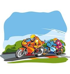 Motor race vector
