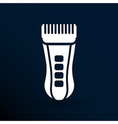 Hairclipper accessory appliance barber beauty icon vector