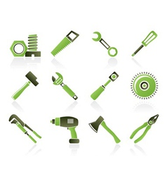Construction type icons vector