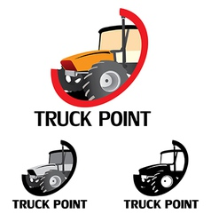 Truck point logo vector