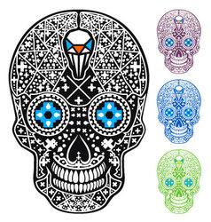 Mexican skull cross-skull vector