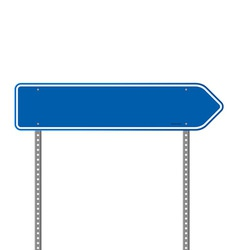 Blue directional road sign vector