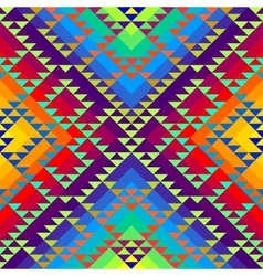 Geometric triangles pattern on rainbow colorful vector